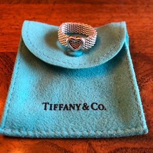 Authentic Tiffany & Co. Somerset Mesh Heart Ring